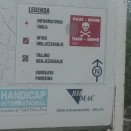 Warning sign about the landmines in Bosnia... Don't go too far offroad when wild-camping