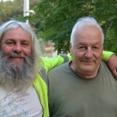 This is Beer Santa and the Boss. Awesome lads! (Slept in the Boss' backyard in one of the earlier photos)