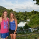Krka National Park with my sister who visited