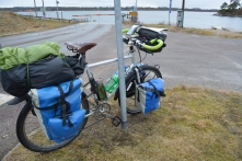Waiting to board the ferry to Mörkö